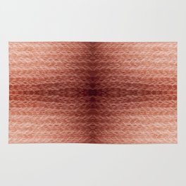 Sepia fuzzy knitted fabric texture abstract Rug
