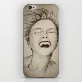 laughing girl iPhone Skin