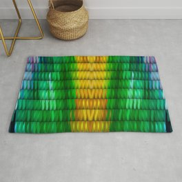 Multicolored Rectangle Pattern Rug