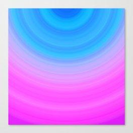 Pink & Blue Circles Canvas Print