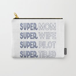 Super Pilot Mom Carry-All Pouch