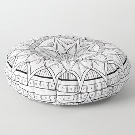 Round Mandala Floor Pillow