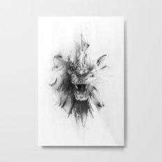 STONE LION Metal Print