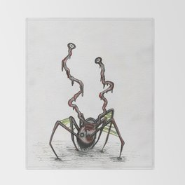 The Norris Spider Head Thing Throw Blanket