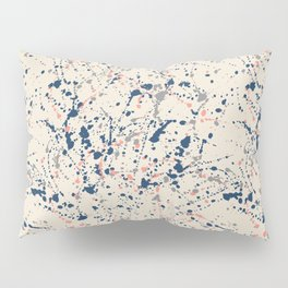 Cream Splatter Pillow Sham