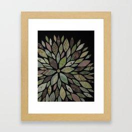 Floral Spiral Framed Art Print