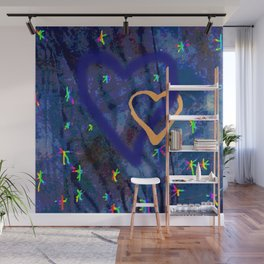 Star rainbow Wall Mural