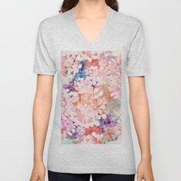 happy flowers Unisex V-Neck