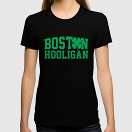Boston Hooligan Green Shamrock St Patricks Day Cool T-shirt