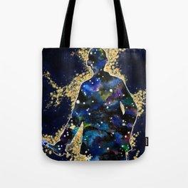 ... fallin' through space, you and me... Tote Bag