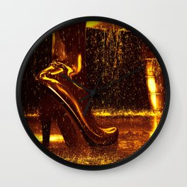 Shiny Boots of Leather Wall Clock
