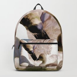 Egyptian goose and gosling Backpack