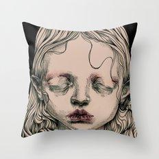 Rabbit Eyes Throw Pillow