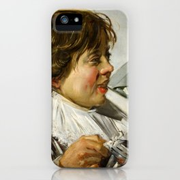 "Frans Hals ""Boy with a glass and a tin can"" iPhone Case"
