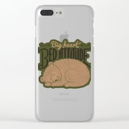 Big Heart Bed Attitude Clear iPhone Case
