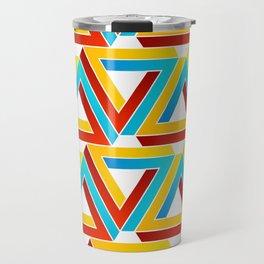 Colorful Penrose triangles- optical illusion backdrop Travel Mug
