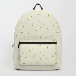 Hand painted ivory pink teal yellow gold brushstrokes confetti Backpack