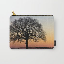 Lonely Tree Sunset Silhouette Carry-All Pouch
