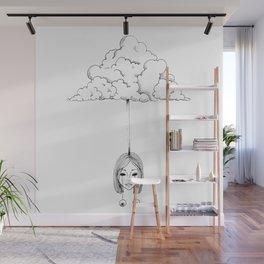 High as a cloud line art original drawing by shoosh Wall Mural