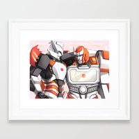 transformers Framed Art Prints featuring TRANSFORMERS: Amica by alfheimr