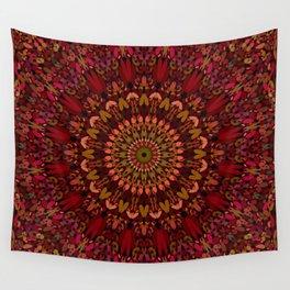 Bohemian Geometric Flower Mandala Wall Tapestry