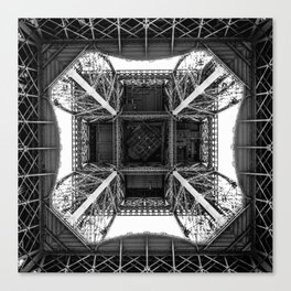 Inside the Eiffel Tower Canvas Print