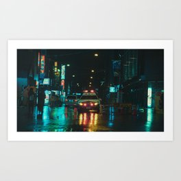 Tokyo Nights / Kiss Land II / Blade Runner Vibes  / Liam Wong Art Print