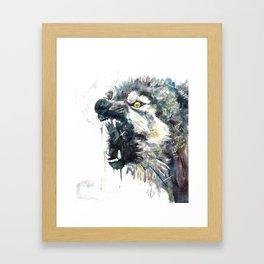 Wild, Wild Wolf Framed Art Print