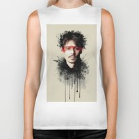 johnny depp Biker Tanks featuring Johnny Depp by Brigitta