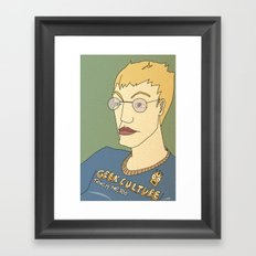 Geek culture / touch me, too Framed Art Print