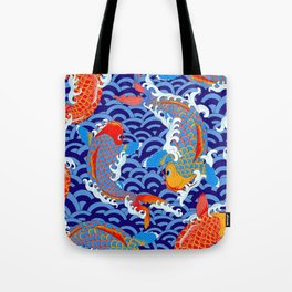 Koi fish / japanese tattoo style pattern Tote Bag