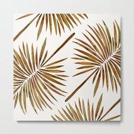 Tropical Fan Palm – Sepia Metal Print