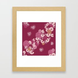Floral Seamless Pattern Framed Art Print