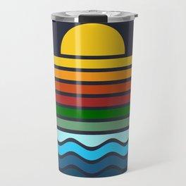 Geometric Rainbow Nature Travel Mug