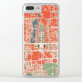 Beijing city map classic Clear iPhone Case