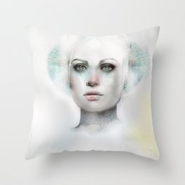 Beyond Magnetic Saturn Throw Pillow