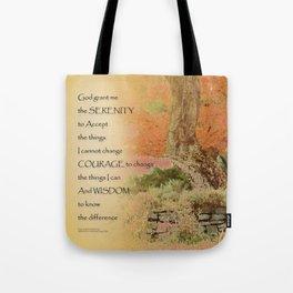 Serenity Prayer Autumn Harmony Tote Bag
