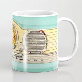 Blue teal Classic Old vintage Radio Coffee Mug