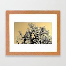 Exhaling Wood Framed Art Print