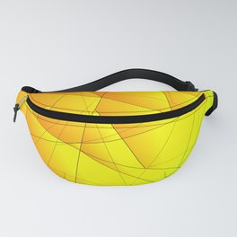 Bright summer pattern of yellow and green triangles and irregularly shaped lines. Fanny Pack