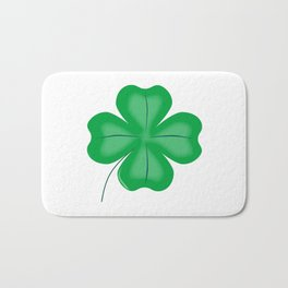 Lucky Four Leaf Shamrock Bath Mat