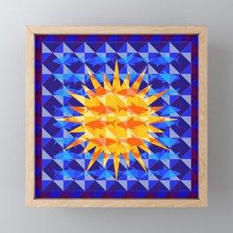 Sunsharks On Blue. Framed Mini Art Print