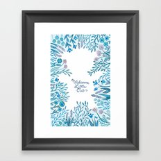 Little Cub (Blue) Framed Art Print