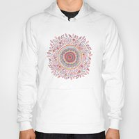 flower Hoodies featuring Sunflower Mandala by Janet Broxon