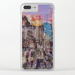 San Francisco city illusion Clear iPhone Case