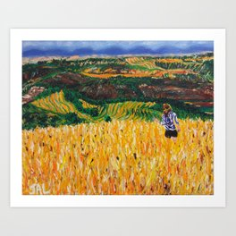 A Day in Tuscany Art Print