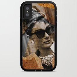 Audrey Hepburn - Ripped Paper Style - iPhone Case