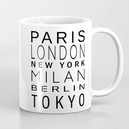 Fashion Capitals Coffee Mug