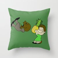 psych Throw Pillows featuring Psych! (Green Version) by AriesNamarie