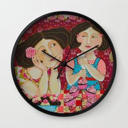 """Cupcakes From My Favourite Chef"" Wall Clock"